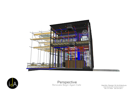 Renovate  Begin Again cafe:  บาร์และคลับ by Identity Design & Architecture Part.,Ltd