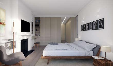 Leamington Road Villas : modern Bedroom by Novispace