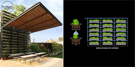 Techos planos de estilo  por Boutique de Arquitectura  (Sonotectura + Refaccionaria)