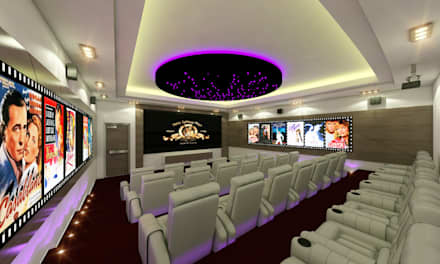 mediterranean Media room by ecoexteriores