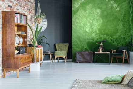 The Green Matter: colonial Living room by Pixers