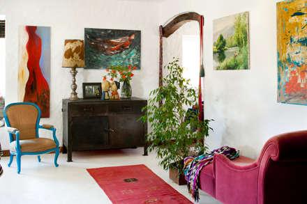 Projecto de Decoraçao By Manuela Pinto Gouveia/Manumaya: Salas de estar campestres por Manumaya - Made with Love