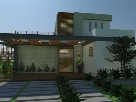 Casa Alphaville Luegui: Casas modernas por DALLA ARQUITETURA
