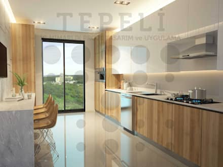 Kitchen units by Tepeli İç Mimarlık