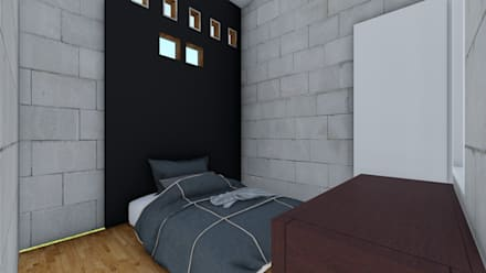 Renovation Boarding House: industrial Bedroom by APARCH architecture and design