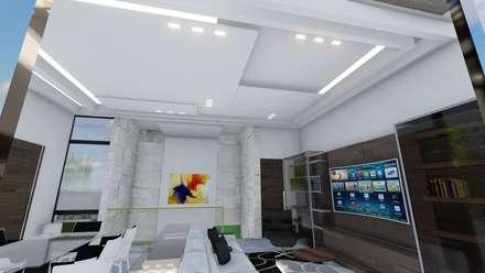 Pent House Virginia Loft, Maracaibo. Estado Zulia: Salas de entretenimiento de estilo moderno por Arquitectura Creativa