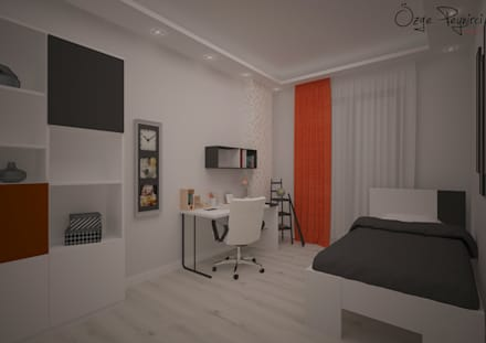 Deniz Gökçe Mimarlık ve İnşaat – Genç Odası I Young Room: modern tarz Çocuk Odası