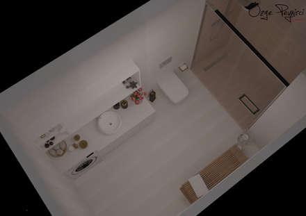 Deniz Gökçe Mimarlık ve İnşaat – Banyo I Bathroom: modern tarz Banyo