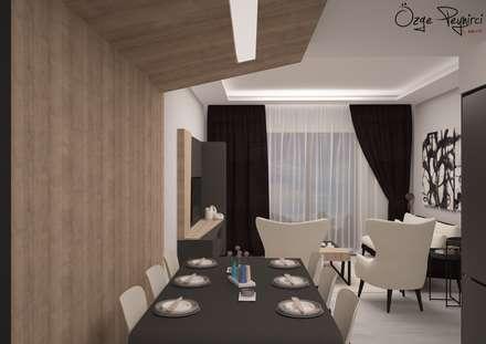 Deniz Gökçe Mimarlık ve İnşaat – Yemek Bölümü : modern tarz Yemek Odası