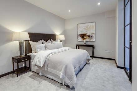 Basement Bedroom: modern Bedroom by London Home Staging Ltd