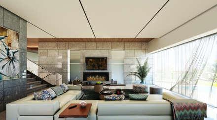 MAAB Villa: minimalistic Living room by GOWS architects