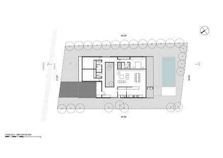 Implantación: Casas de estilo moderno por Luciano Kruk arquitectos
