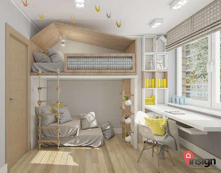 Dormitorios infantiles de estilo  por InSign Pracownia Projektowa Karolina Wójcik