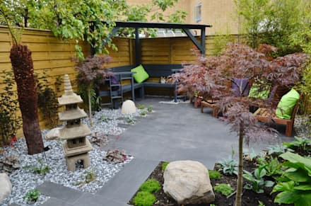 Garden design ideas inspiration pictures homify for Small patio landscaping