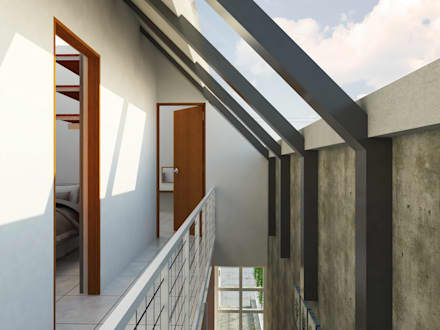 Interior - Tangga & Koridor:  Koridor dan lorong by SODA Indonesia