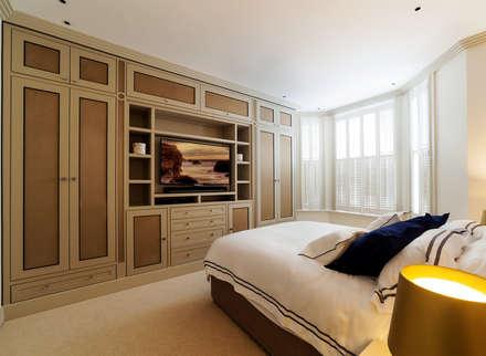 Bedroom modern bedroom by prestige architects by marco braghiroli