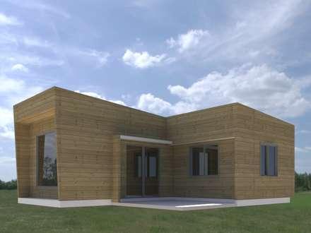 Casa Negrón Alvarado: Casas unifamiliares de estilo  por Constructora Alto Cautin Spa.