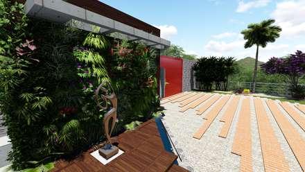 paisajismo casa cumbres de curumo jardines zen de estilo por creativa