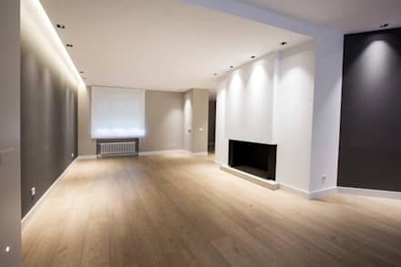 Reforma Piso en Avilés: Salones de estilo moderno de Bocetto Interiorismo y Construcción