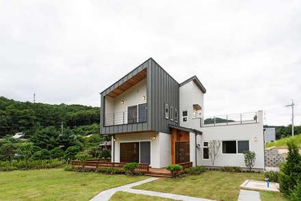 منزل خشبي تنفيذ 한다움건설