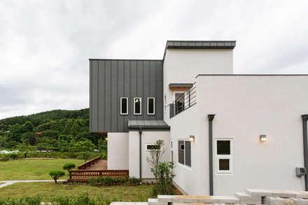 주택 측면: 한다움건설의  목조 주택