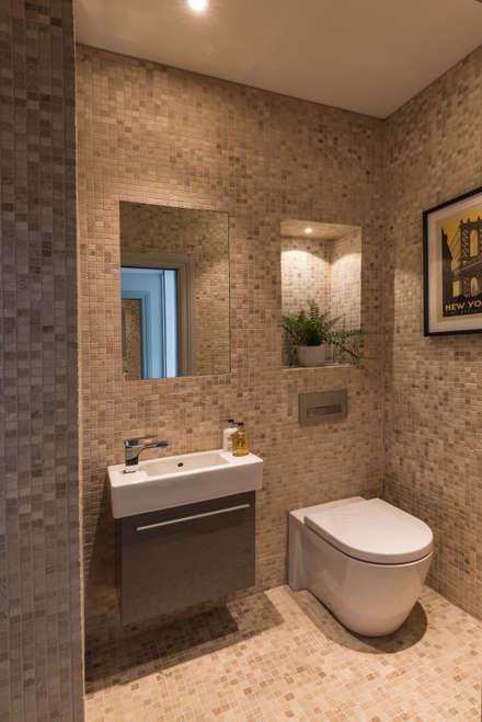 Guest powder room classic bathroom by prestige architects by marco braghiroli