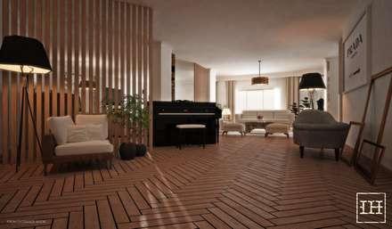 Maadi apartment renovation:  Corridor & hallway by Lamia Alhaddad designs