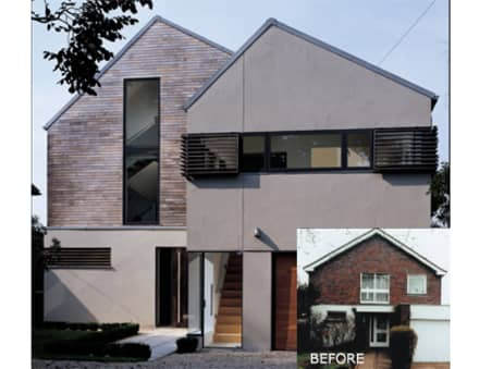 Guide to External Cladding:  Detached home by Building With Frames