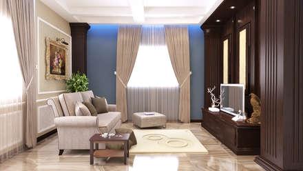 The Jasmine Residence: mediterranean Bedroom by Belal Samman Architects