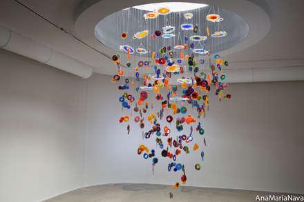 Nebula: Spa de estilo moderno por Ana Maria Nava Glass