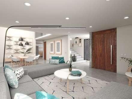 Sala-Comedor y Escaleras: Salas de estilo minimalista por Taller Veinte