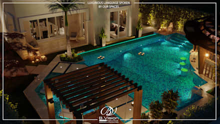 Pool with Landscape: modern Pool by Bvision Interiors