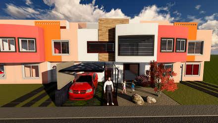 COCHERA: Garajes de estilo moderno por De.sign