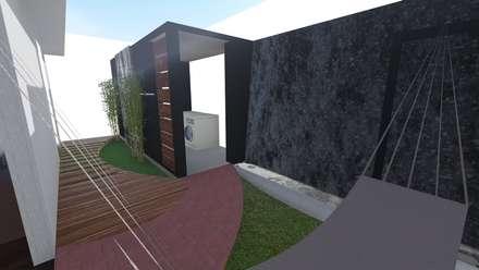CUARTO DE LAVADO: Garajes de estilo moderno por De.sign