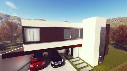 CASA PUNTA: Garajes de estilo minimalista por De.sign