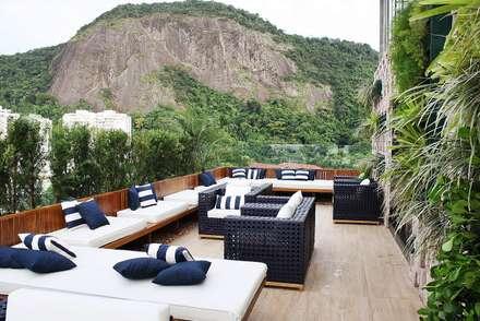 Cobertura   Hotel Royal Rio Palace: Terraços  por TRIDI arquitetura