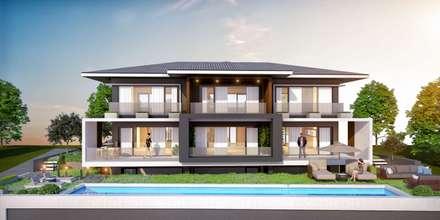 VERO CONCEPT MİMARLIK – Ayvalık Villa: modern tarz Evler