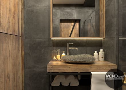 industrial Bathroom by MONOstudio
