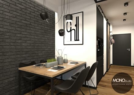 industrial Dining room by MONOstudio