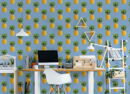 PINEAPPLE SKY: tropical Study/office by Pixers