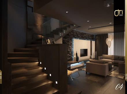 La Terra Residence:  Corridor & hallway by Ori - Architects