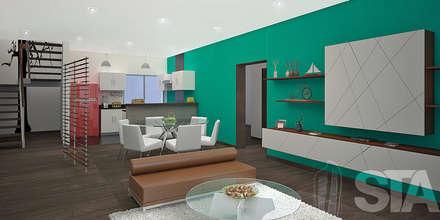 : Salas / recibidores de estilo moderno por Soluciones Técnicas y de Arquitectura