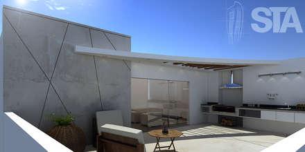 Terraza: Terrazas de estilo  por Soluciones Técnicas y de Arquitectura