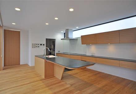 富山のS邸: 辻谷 誠 建築研究所が手掛けたキッチンです。