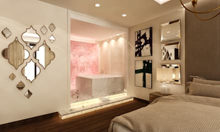 Design 3D - Jacuzzi Zone in Master Bedroom: eclectic Bathroom by KE-Architects
