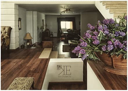 Reception Entrance:  Corridor & hallway by KE-Architects