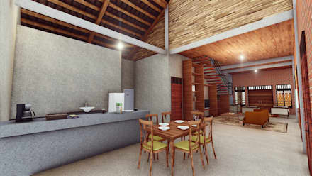 RH House:  Dapur by Pr+ Architect