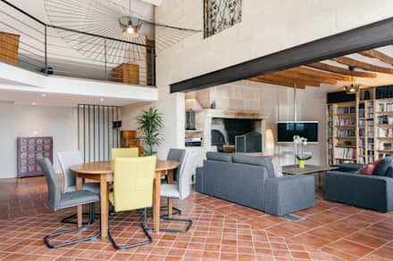 Aménagement d'une longère: Salle à manger de style de style Moderne par MadaM Architecture