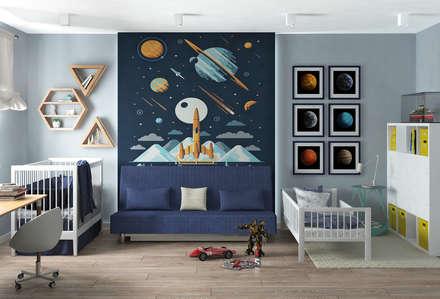 Квартира для молодой семейной  пары: Детские комнаты в . Автор – Yurov Interiors