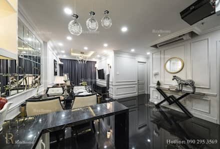 ORCHARD GARDEN APARTMENT:  Phòng khách by REAL HOME VN